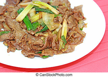 mongolian, 牛肉