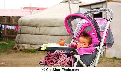 Mongolian Baby at Suburbs, Ulaanbaatar, Mongolia