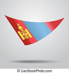Mongolian flag background. Vector illustration. - Mongolian ...