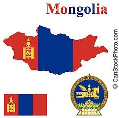 Mongolian Flag - Flag and national coat of arms of Mongolia ...
