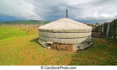 Mongolian Ger at Ulaanbaatar Suburbs