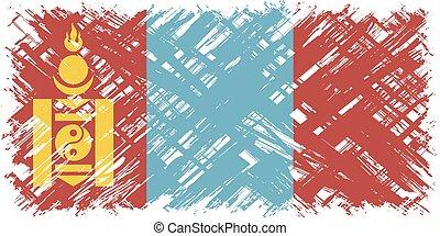 Mongolian grunge flag. Vector illustration. Grunge effect ...
