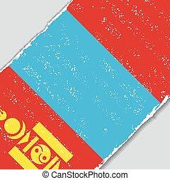 Mongolian grunge flag. Vector illustration. - Mongolian ...