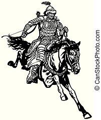mongolian warrior archer - Mongolian archer warrior on a ...
