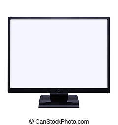 moniteur, displa, écran tv, vide, lcd, informatique, desctop