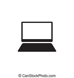 moniteur, gabarit, conception, logo, icône, informatique
