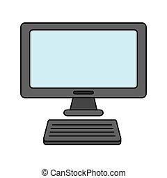 moniteur ordinateur, clavier