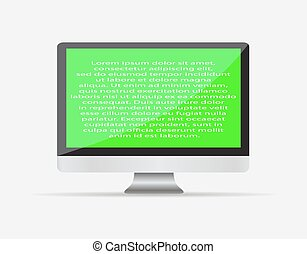 moniteur ordinateur, texte, eps10., screen., illustration, ...
