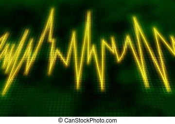 moniteur sonore, vagues, vagues