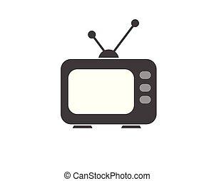 moniteur, tv, vecteur, lcd, mené, icône