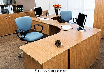 moniteurs, sur, a, bureau