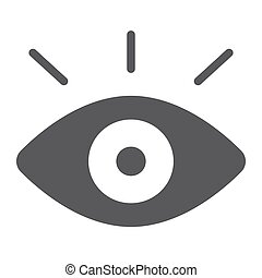 Monitiring glyph icon, security and eye, vision sign, vector graphics, a solid pattern on a white background.