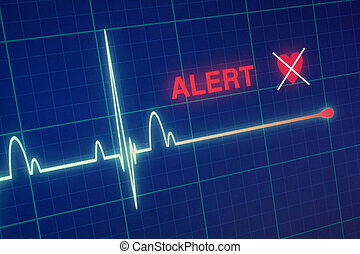 monitor., 心, 打つ, cardiogram