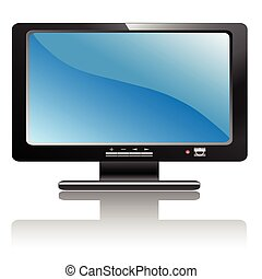 Monitor - A Illustration LCD monitor with a design.