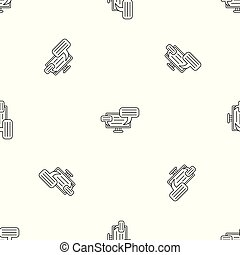 Monitor chat pattern seamless vector
