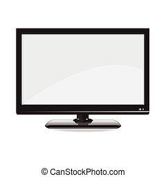 monitor computador, isolated., vetorial, exposição, illustration.