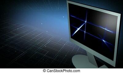 monitor computer, 4
