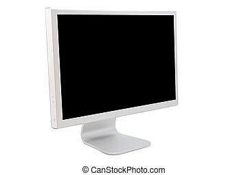 monitor computer, con, uno, nero, immagine