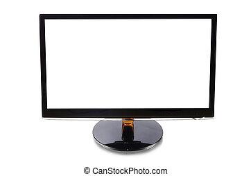 monitor computer, isolato, bianco