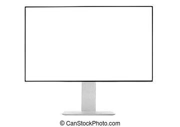 monitor computer, schermo bianco