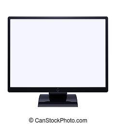 monitor, computer, schermo lcd tv, vuoto, desctop, displa