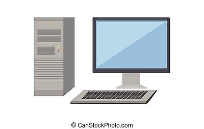 monitor computer, unità, sistema