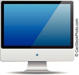 monitor, computer, vector