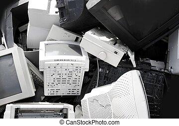 monitor, crt, industria, hardware, computadora, reciclar