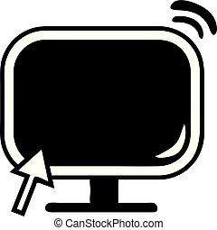 monitor de la computadora, icono