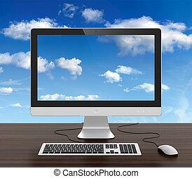 monitor de la computadora
