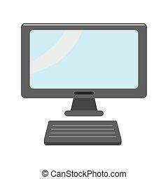 monitor de la computadora, teclado
