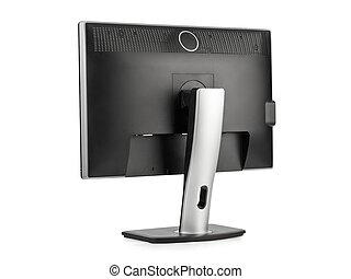 monitor de la computadora, vista trasera