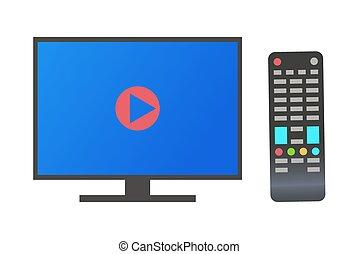monitor, definizione, televisione, plasma, alto, tv