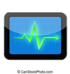 Monitor diagnostic on tablet black color