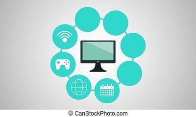 monitor display set applications menu animations...