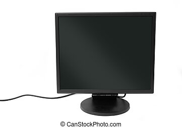 Flatscreen monitor isolated