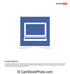 Monitor icon - Blue photo Frame
