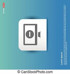 Monitor icon - Blue Sticker button