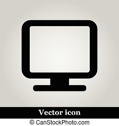 Monitor icon, vector illustration