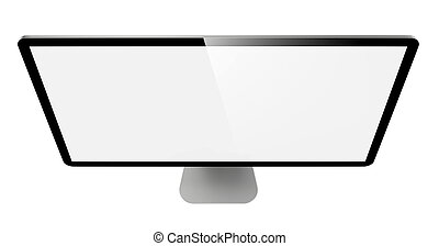 monitor., lcd, moderne, widescreen