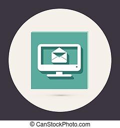 monitor, letter envelope