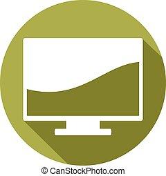monitor liso computador, ícone