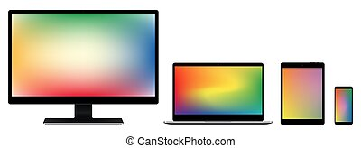 Monitor Notebook Tablet Smartphone collection