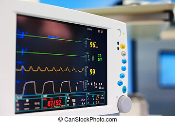 Monitor of vital signs in the operating room