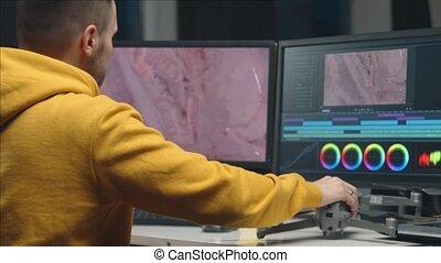 monitor, opmaak, colorist, software, professioneel,...