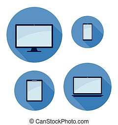 monitor phone tablet laptop icon set