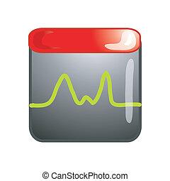 monitor, pictogram