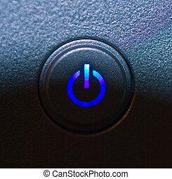 power button - monitor power button closeup