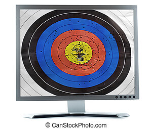 monitor, schermo, bersaglio, scopo