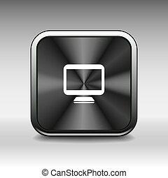 monitor, schermo, isolato, computer, mostra, icona